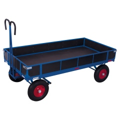 VARIOfit Handpritschenwagen mit Bordwand Luft-/ Vollgummibereifung bis 1250kg Traglast