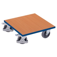 VARIOfit Kistenroller mit Boden in Buchendekor und Radfeststeller 500x500mm