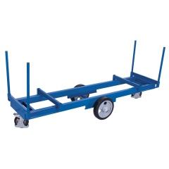 VARIOfit Langmaterialwagen mit 4 Rungen Elastikvollgummi 2000kg Tragkraft