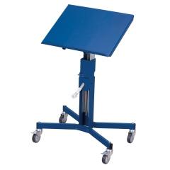 VARIOfit Materialständer höhenverstellbar mit Handkurbel, einseitig neigbar und Ladefläche 510x410mm