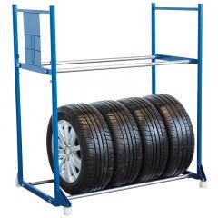 VARIOfit Reifenregal aus Stahl 300kg Traglast mit 2 Etagen