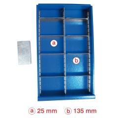 VARIOfit Schubladeneinteilungsset 2x5 Fächer