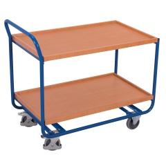 VARIOfit Aluminium Tischwagen mit Schiebegriff, 2 Schubladen und 2 Ladeflächen 985x595mm