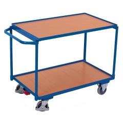 VARIOfit Tischwagen mit Schiebegriff und 2 Ladeflächen