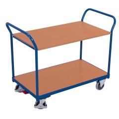 VARIOfit Tischwagen mit 2 gebogenen Schiebegriffen und 2 Ladeflächen