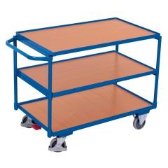 VARIOfit Tischwagen mit Schiebegriff und 3 Ladeflächen