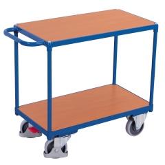 VARIOfit Schwerer Tischwagen mit Schiebegriff und 3 Ladeflächen