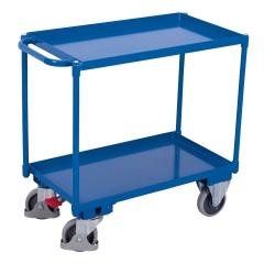 VARIOfit Tischwagen mit Wanne, Schiebegriff und 2 Ladeflächen