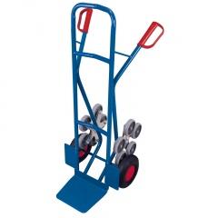 VARIOfit Treppenkarre 200kg Tragkraft gebogene Querstreben mit 2 fünfarmigen Radsternen