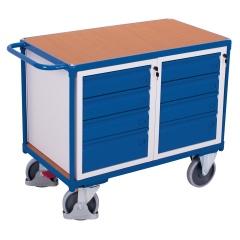 VARIOfit Werkstattwagen mit Schiebegriff und 8 Schubladen, abschließbar