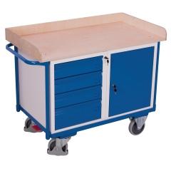 VARIOfit Werkstattwagen mit 4 Schubladen, Schrank und Ladefläche 1125x630mm