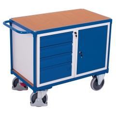 VARIOfit Werkstattwagen mit Schiebegriff, Schrank und 4 Schubladen
