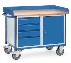Fetra Werkstattwagen mit Schrank und 4 Schubladen