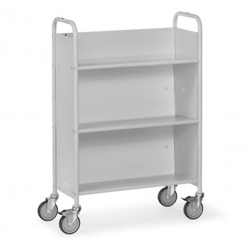 Fetra Bürowagen mit 3 Böden, geschlossenen Seitenwänden und Rückwand