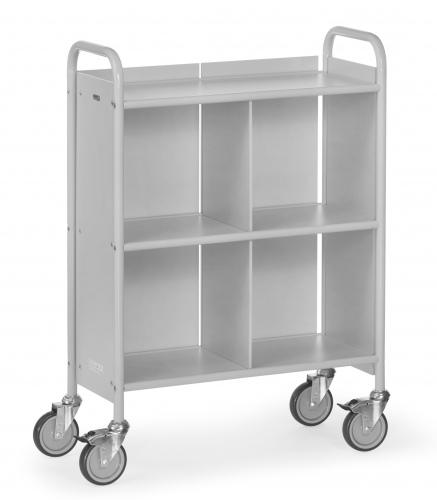 Fetra Bürowagen mit 3 Böden und geschlossenen Seitenwänden, Rückwand und Trennwand