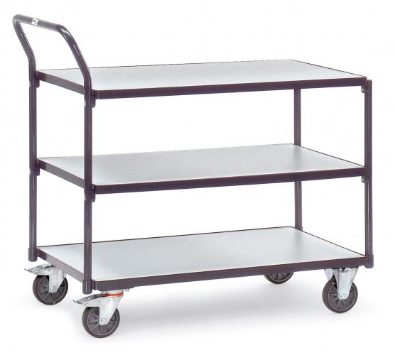 Fetra ESD-Tischwagen mit 3 Böden, elektrisch leitfähig