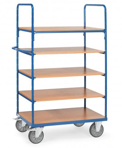 Fetra Etagenwagen mit 5 Böden aus Holz Fetra Etagenwagen mit 5 Böden aus Holz 1000x600mm Ladefläche 1200x800mm Ladefläche