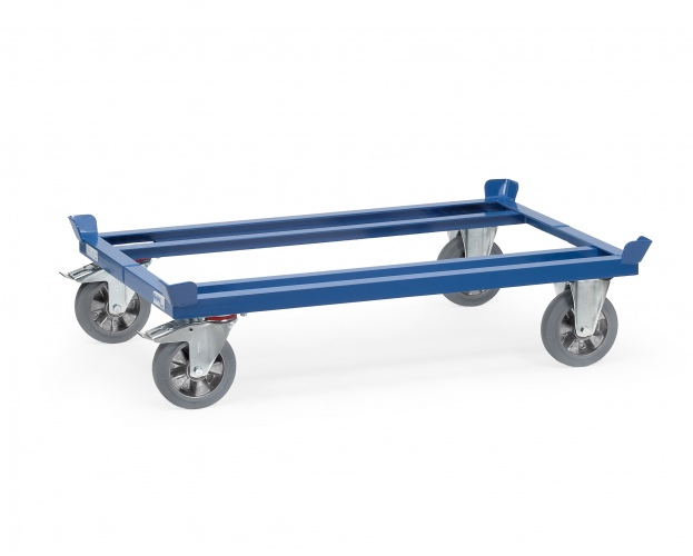 Fetra Palettenfahrgestelle für Gitterboxen/Flachpaletten mit Elastic-Vollgummi-Rädern