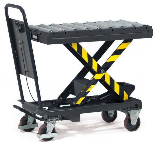 Fetra Rollenbahn mit Aufsteckrahmen für Hubtischwagen