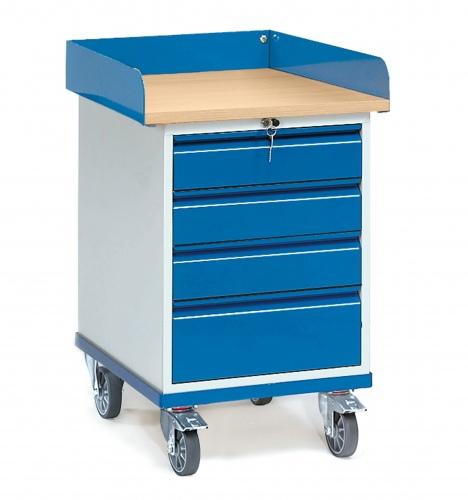 hubheld fetra rollschrank mit umrandung und 4 schubladen hubtechnik transportger te. Black Bedroom Furniture Sets. Home Design Ideas