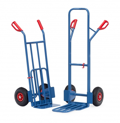 Fetra Stahlrohrkarre mit Klappschaufel Vollgummi-/Luftbereifung