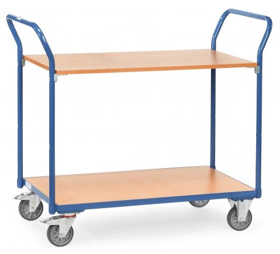 Fetra Tischwagen 2 Etagen 200kg Tragkraft, 850x500mm Ladefläche