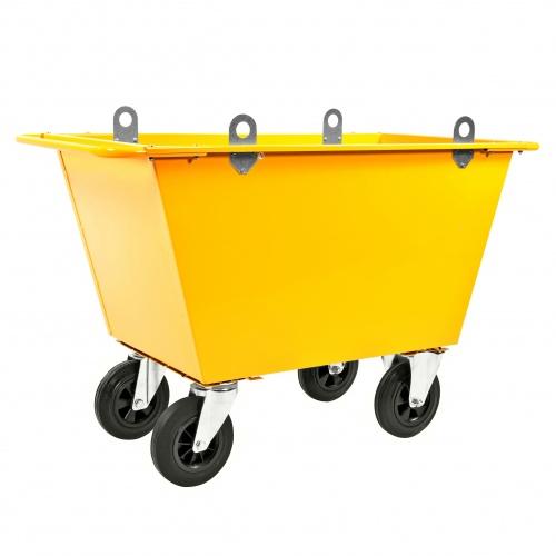 Kongamek Abfallwagen mit Hebeösen und Gummibereifung bis 400l Volumen