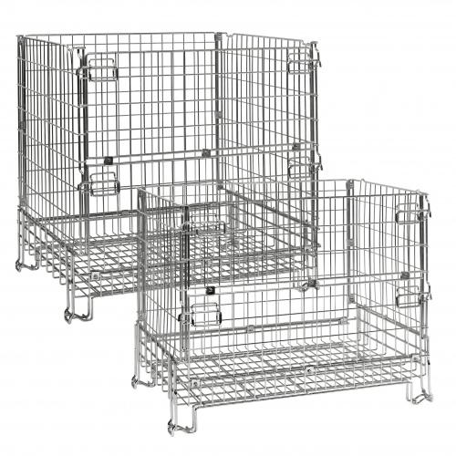 Kongamek Gitterbox verzinkt 680-1180mm hoch vorne halb zu öffnen bis 1000kg Tragkraft