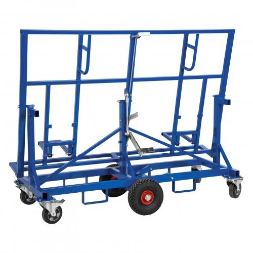 Kongamek Plattenwagen in blau 1900x700x1490mm mit 500kg Tragkraft und Bremse
