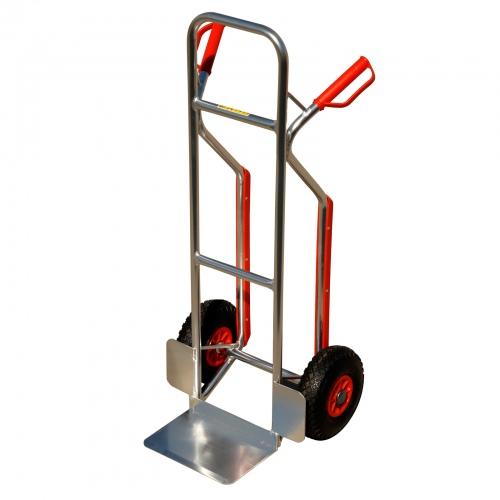 Pro-Bau-Tec Aluminium Stapelkarre mit Treppenrutsche 150kg Tragkraft