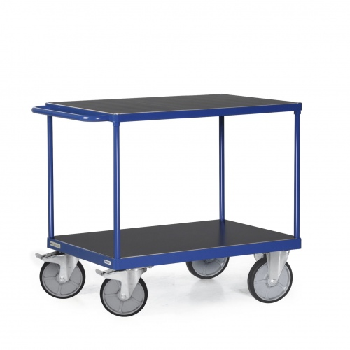 Protaurus Tischwagen F600 mit 2 Ladeflächen und Schiebegriff bis 600kg Tragkraft