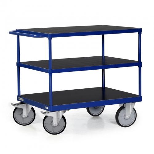 Protaurus Tischwagen F600 mit 3 Ladeflächen und Schiebegriff bis 600kg Tragkraft