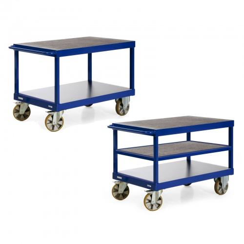 Protaurus Tischwagen R2200 mit 2-3 Ladeflächen und Schiebegriff 2200kg Tragkraft