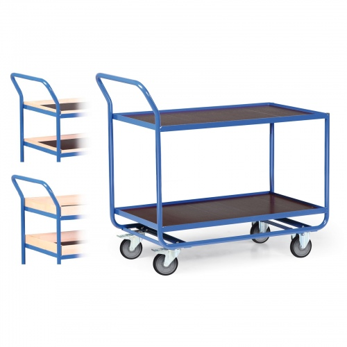 Protaurus Tischwagen Serie R300 mit 2 Ladeflächen 800x500mm und Bordleisten