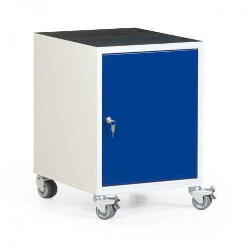 Protaurus Werkstatt-Rollcontainer mit Schrank und Riffelgummi- / Multiplexmatte