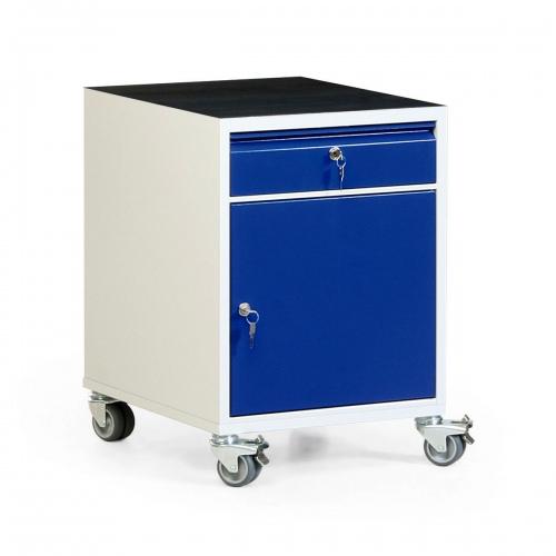 Protaurus Werkstatt-Rollcontainer mit Schrank, Schublade und Riffelgummi- / Multiplexmatte