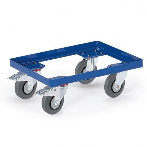 Rollcart Fahrrahmen 810x610mm Winkelstahl mit TPE-Bereifung und 2 Feststellern