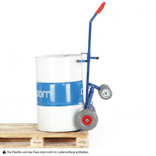 Rollcart Fasskarre mit zwei Stützrollen Vollgummi/Luft