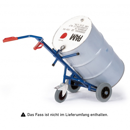 Rollcart Fasskarre mit Stützrolle Vollgummi/Luft