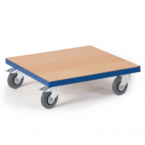 Rollcart Kistenroller Vollgummibereifung 700x700mm Ladefläche Holz