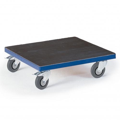 Rollcart Kistenroller Vollgummibereifung 700x700mm Ladefläche Riffelgummi