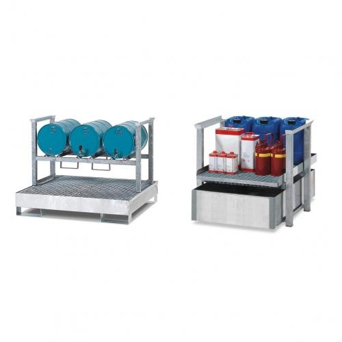 R+R Industrietechnik Aufbauregal für Kleingebinde und Fässer