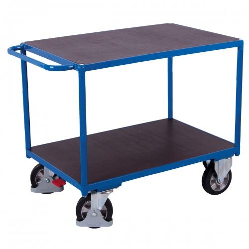 VARIOfit Schwerlast Tischwagen mit Schiebegriff und 2 Ladeflächen