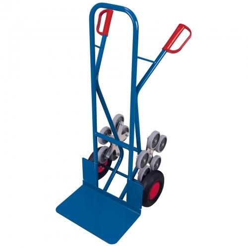 VARIOfit Treppenkarre 200kg Tragkraft große Schaufel mit 2 fünfarmigen Radsternen