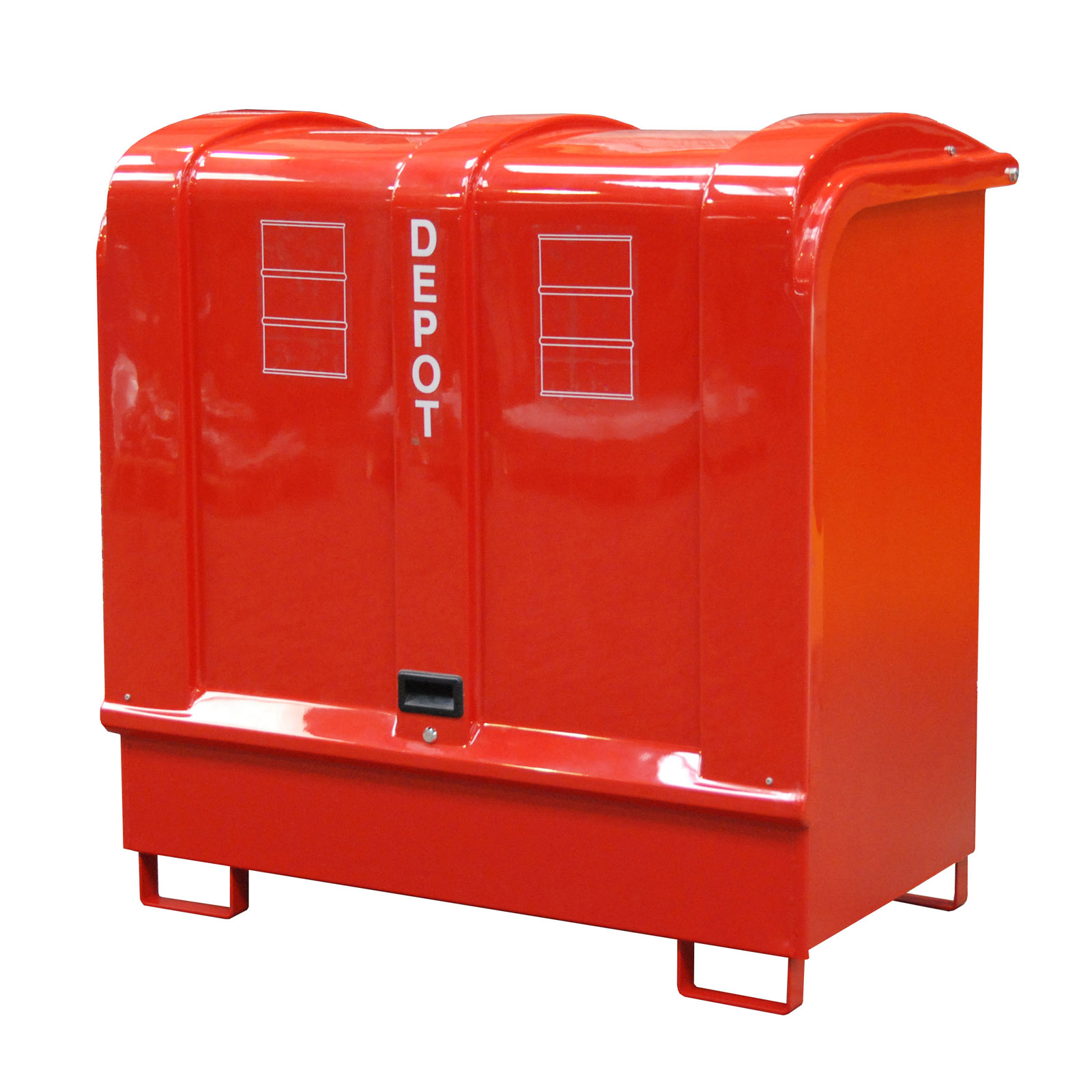 Bauer Gefahrstoff-Depot GD-B für Außenbereich mit Spritzschutzwand und GFK-Haube, Feuerrot 4416-02-0000-2