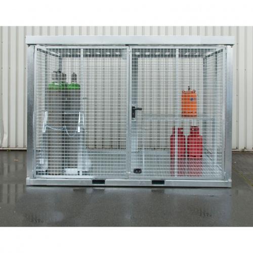 Bauer Gasflaschen-Container GFC-E mit Boden nach TRGS 510