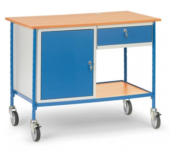 Fetra Rolltisch mit Stahlschrank und ausziehbaren Schublade