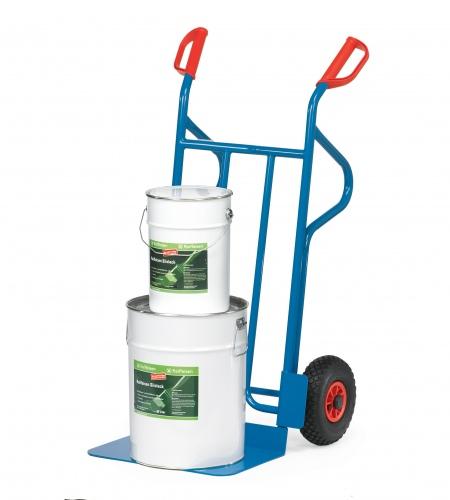 Fetra Stahlrohrkarre mit Vollgummibereifung Höhe 1200 mm, Schaufelbreite 480mm