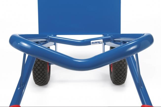 Fetra Stahlrohrkarre mit Luftbereifung Höhe 1600 mm, Schaufelbreite 480mm