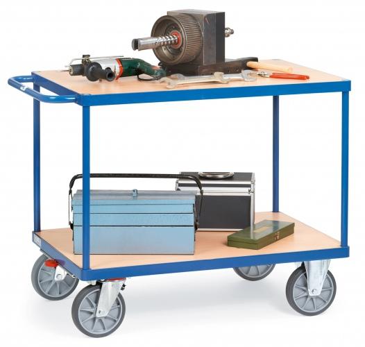 Fetra Tischwagen mit Holzwerkstoffplatten 2 Etagen 1047x509x860mm Außenmaße